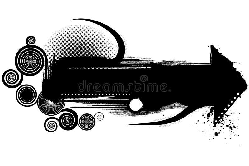 Modern het ontwerpelement van Grunge stock illustratie