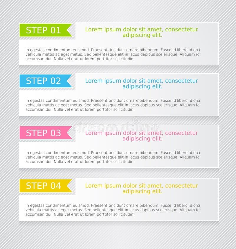 Modern het ontwerpmalplaatje van het infographics kleurrijk Web met schaduw stock illustratie