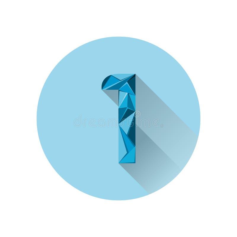 Modern het pictogramembleem van aantal abstract triangel stock illustratie