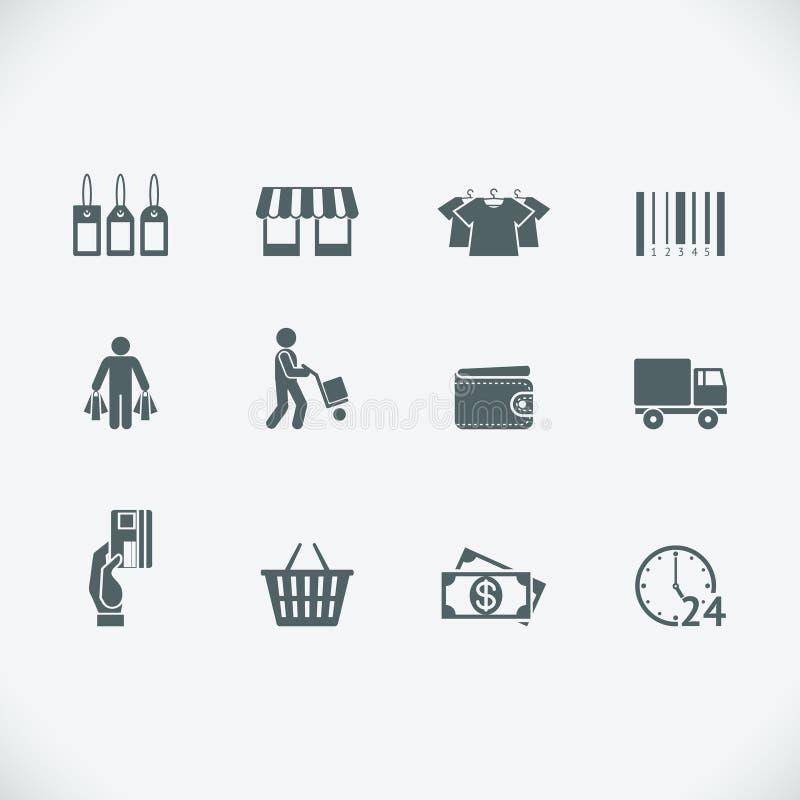 Modern het winkelen pictogram royalty-vrije illustratie