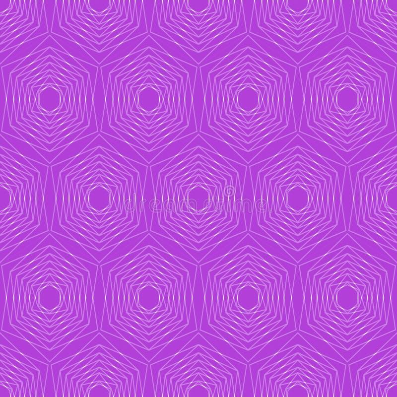 Modern hexagonal patterns. Hexagonal fine patterns in trendy purple. Seamless vector hexagonal patterns. Silver hexagonal patterns stock illustration