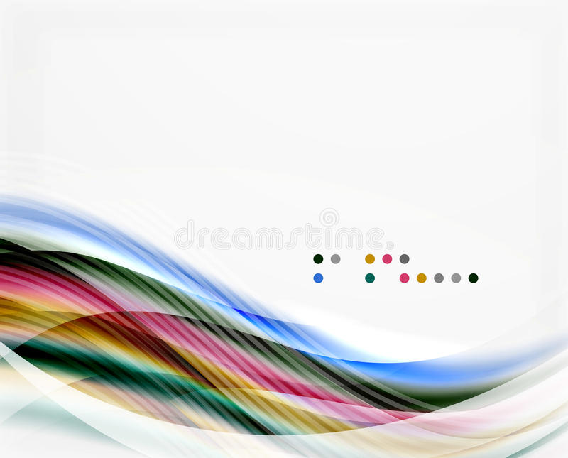 Modern hi-tech glossy glass wave. Vector background royalty free illustration