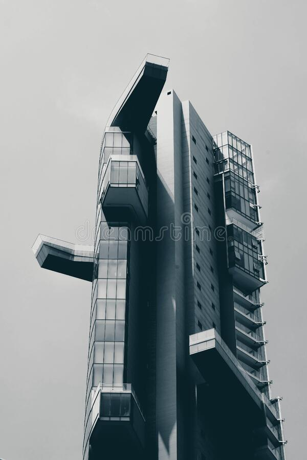 Modern high rise building stock photos