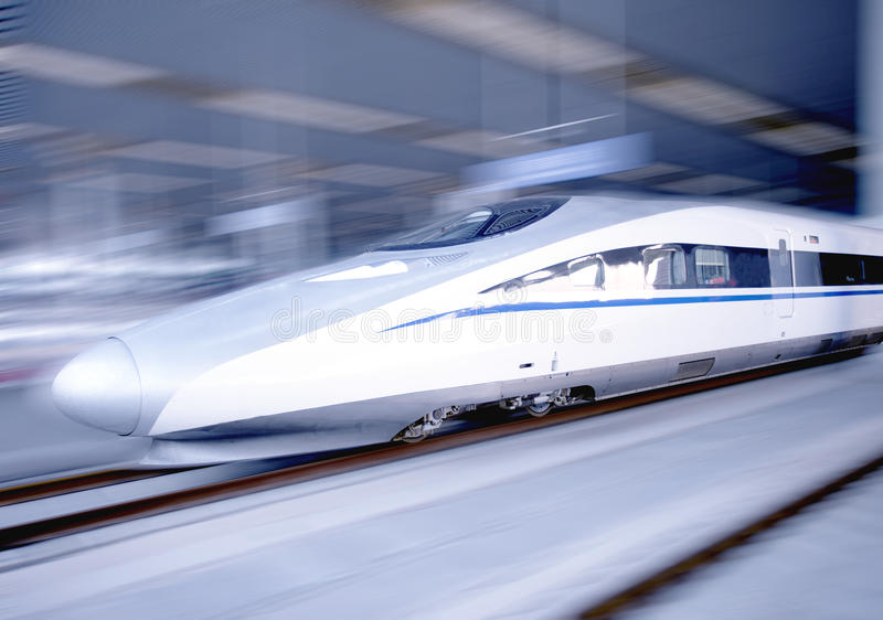 Download Modern High Speed Bullet Train On Track Stock Image - Image of china, morden: 24506493