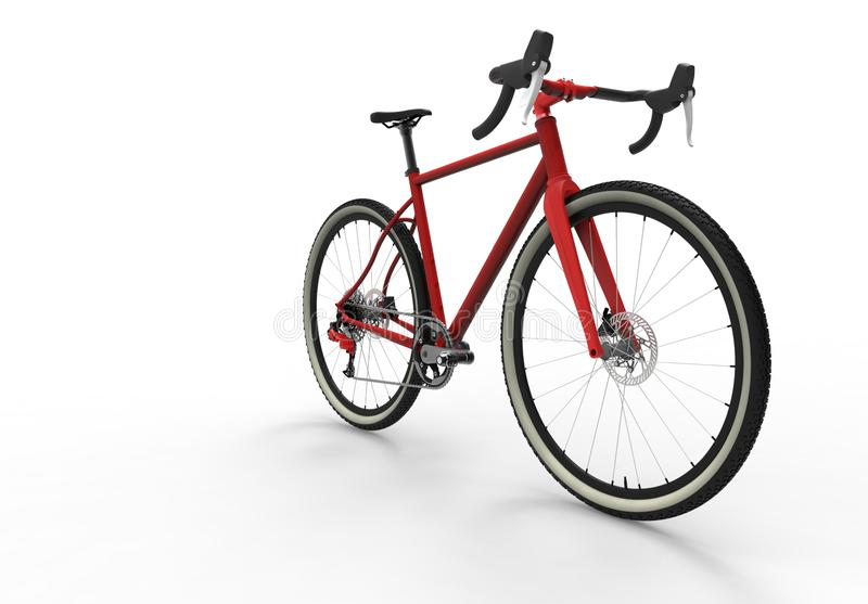 Modern high speed red sports race bicycle royalty free illustration