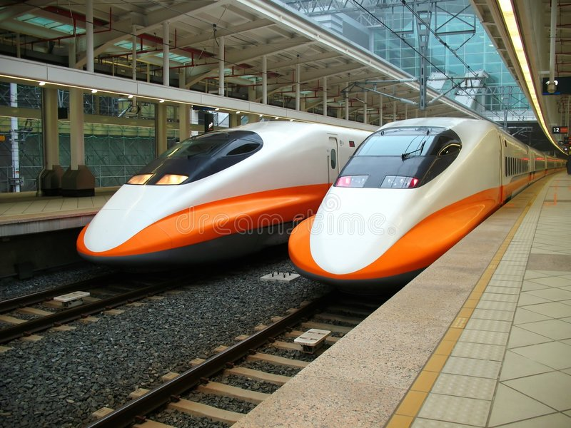 Modern High Speed Train stock images
