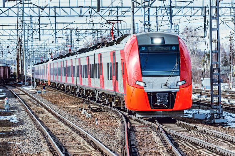 Modern high-speed train. royalty free stock photo