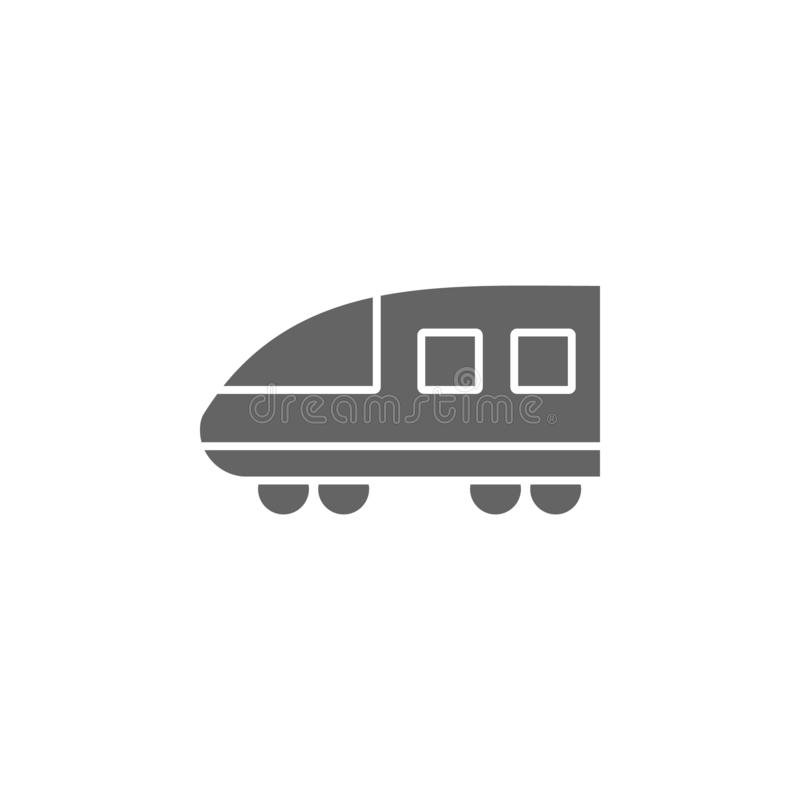 Modern high speed train icon. Element of simple transport icon. Premium quality graphic design icon. Signs and symbols collection. Icon for websites on white stock illustration