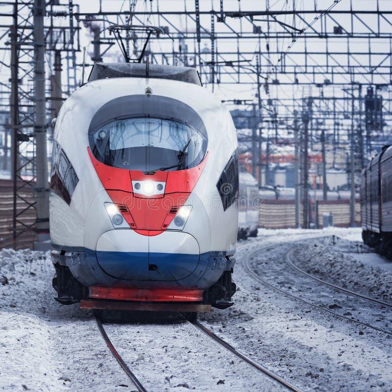 Modern high-speed train. stock photography