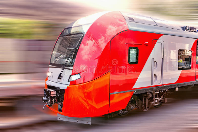 Modern high-speed train stock images