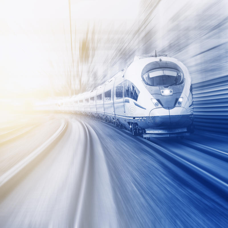 Modern high-speed train. royalty free stock images