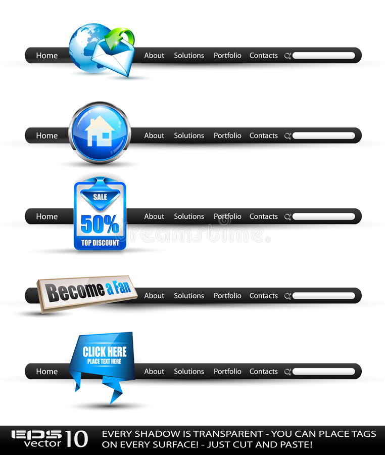 Download Modern High Tech Style Search Banners Stock Vector - Image: 21902817
