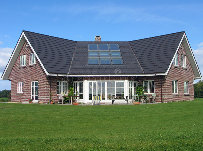Modern home. Modern style designed private home stock images