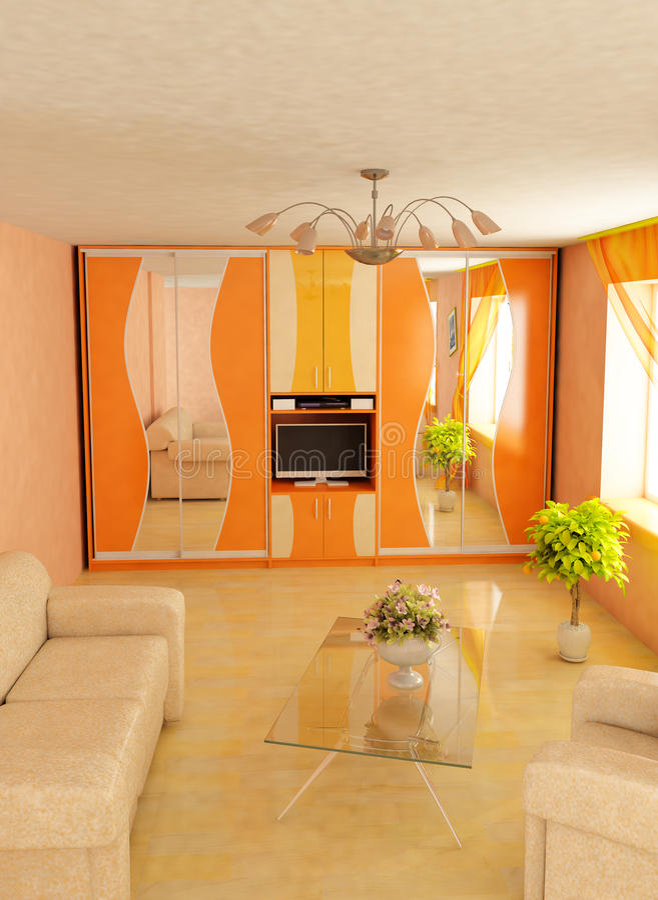 Download Modern Home 3d Interior Stock Image - Image: 18166181