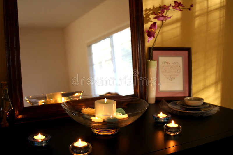 Download Modern home stock photo. Image of warm, interior, mirror - 523602