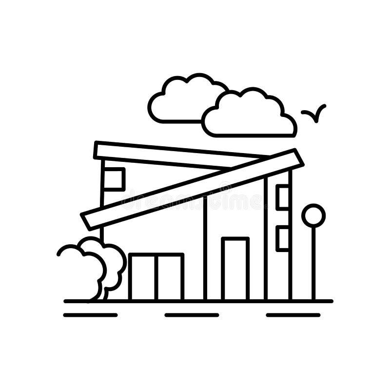 Modern home bird landscape line icon. Element of landscapes icon. On white background stock illustration
