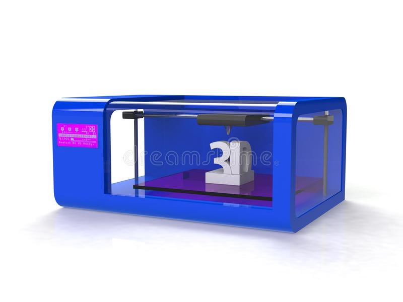 Modern Home 3d printer stock photography