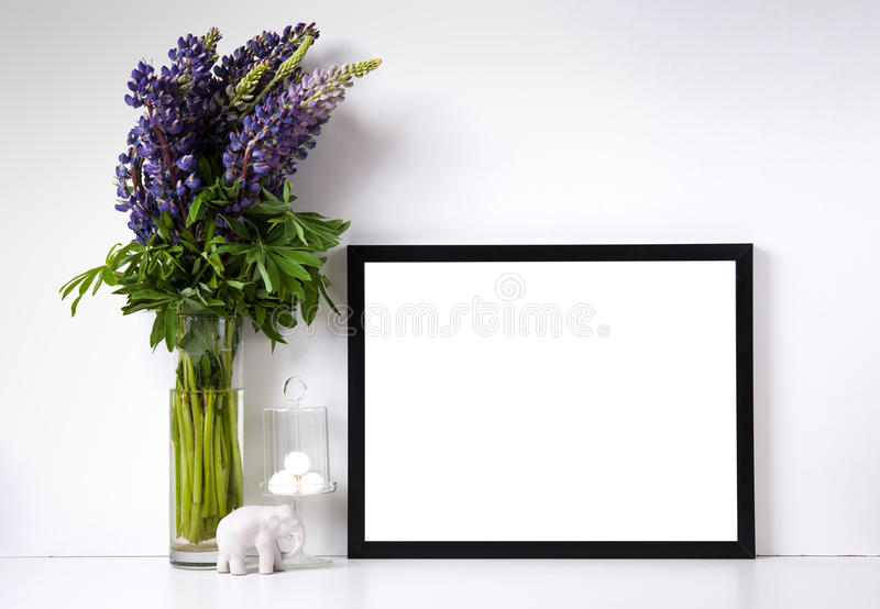 Modern home decor mock-up stock photography