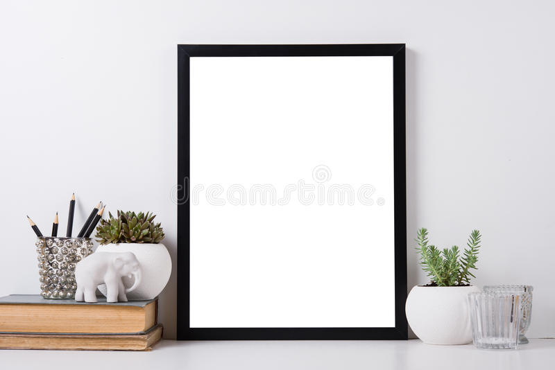 Modern home decor mock-up royalty free stock images