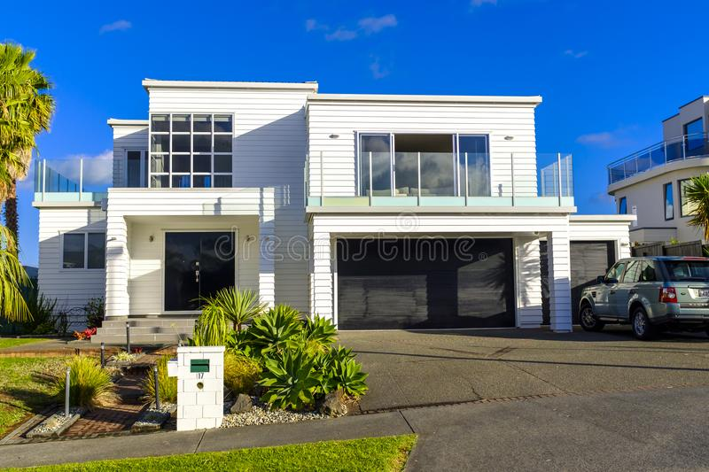 Modern Home in downtown Auckland royalty free stock image