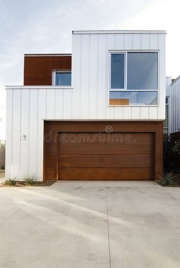Modern home exterior architecture stock image