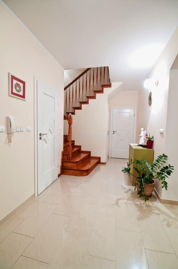 Modern home hallway interior royalty free stock photos