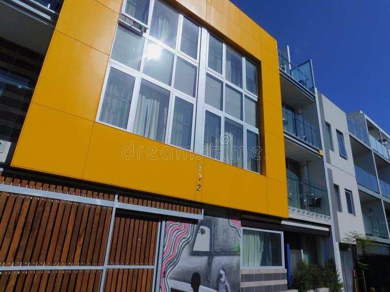 A modern home inside a neighbourhood near the city of perth stock images