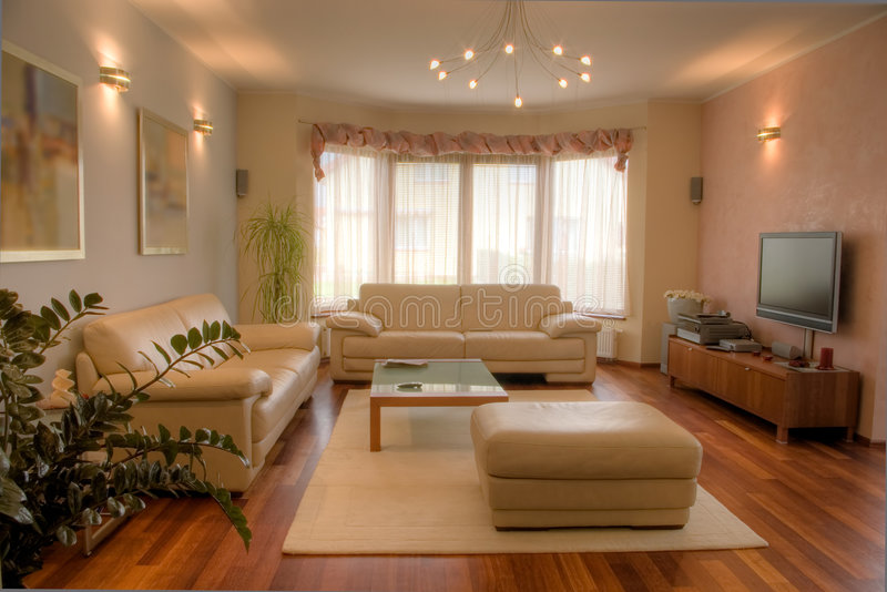 Modern home interior. royalty free stock image