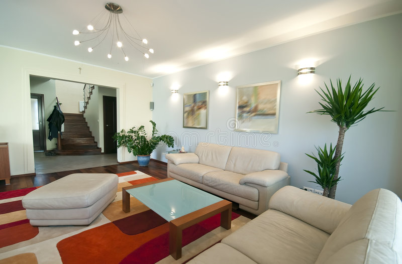 Modern home interior royalty free stock images
