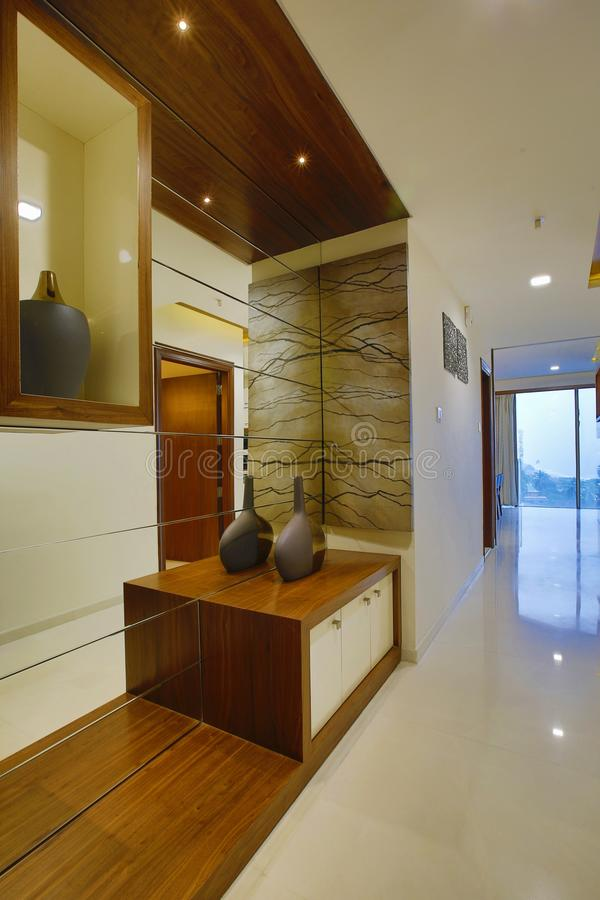 Modern home interior, Calicut, India. Modern home interior designed by Amar Architecture and Designs, PVT, Ltd in Calicut, India stock photo