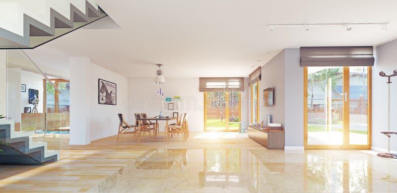 Modern home interior stock illustration