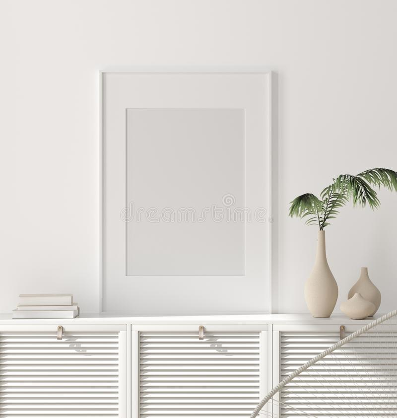 Free Modern Home Interior, Poster Mock Up Royalty Free Stock Images - 161015869