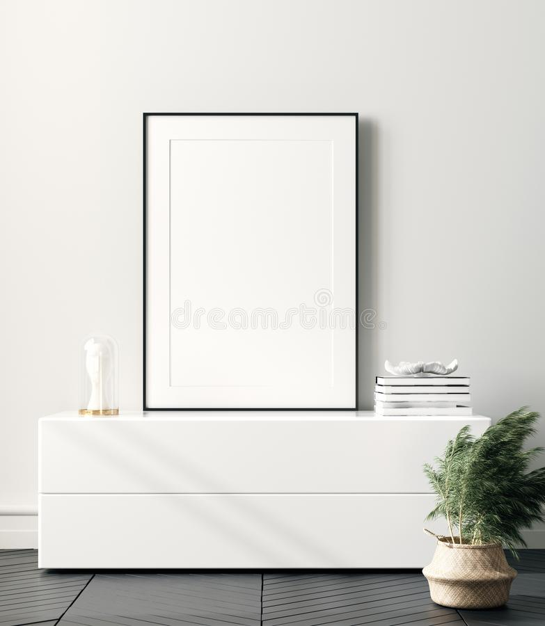 Free Modern Home Interior, Poster Mock Up Stock Photography - 161054082