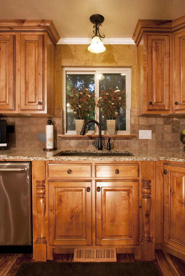 Modern Home Kitchen Cabinets stock photos
