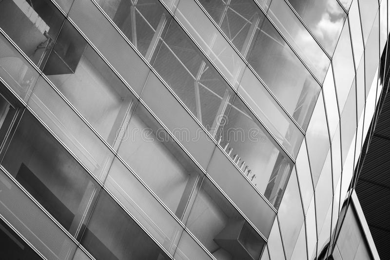 Modern Commercial Building close up view. Modern Hong Kong Commercial Building at close up view stock images