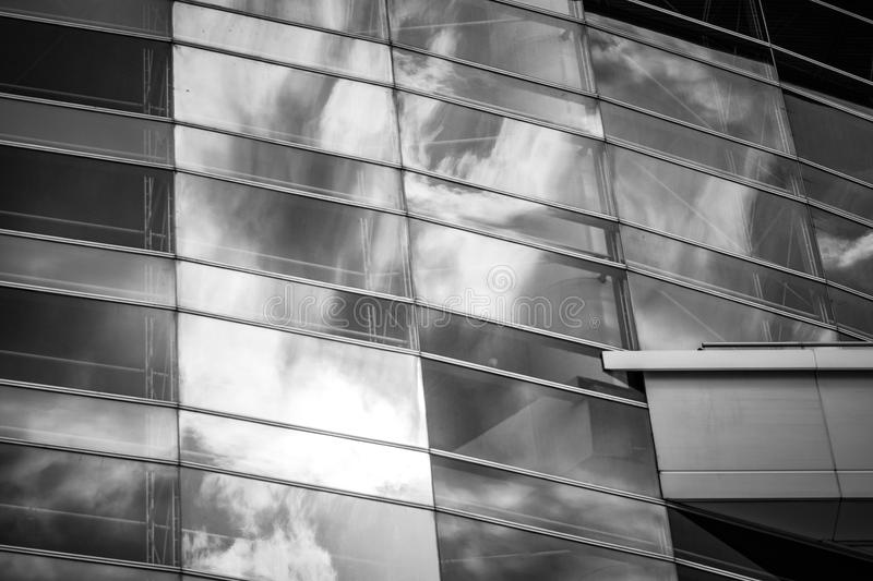 Modern Commercial Building close up view. Modern Hong Kong Commercial Building at close up view royalty free stock image