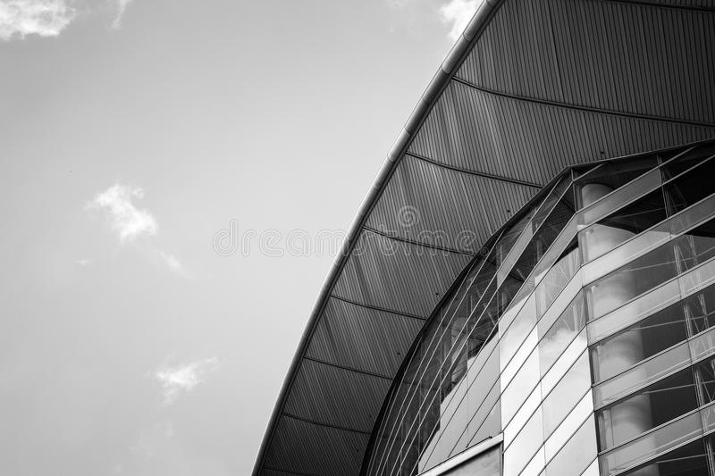 Modern Commercial Building close up view. Modern Hong Kong Commercial Building at close up view royalty free stock photo