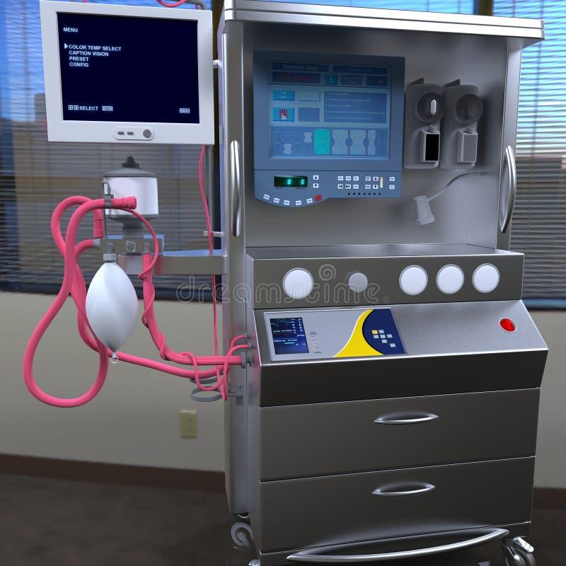 Modern hospital equipment stock photography