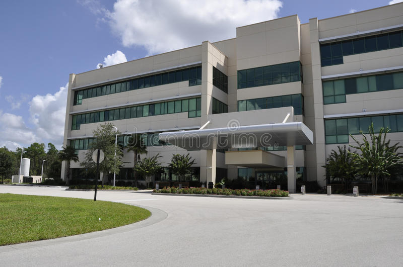 Modern hospital exterior stock images