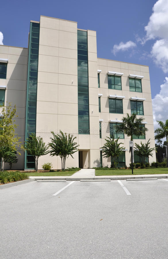 Modern hospital exterior royalty free stock photo