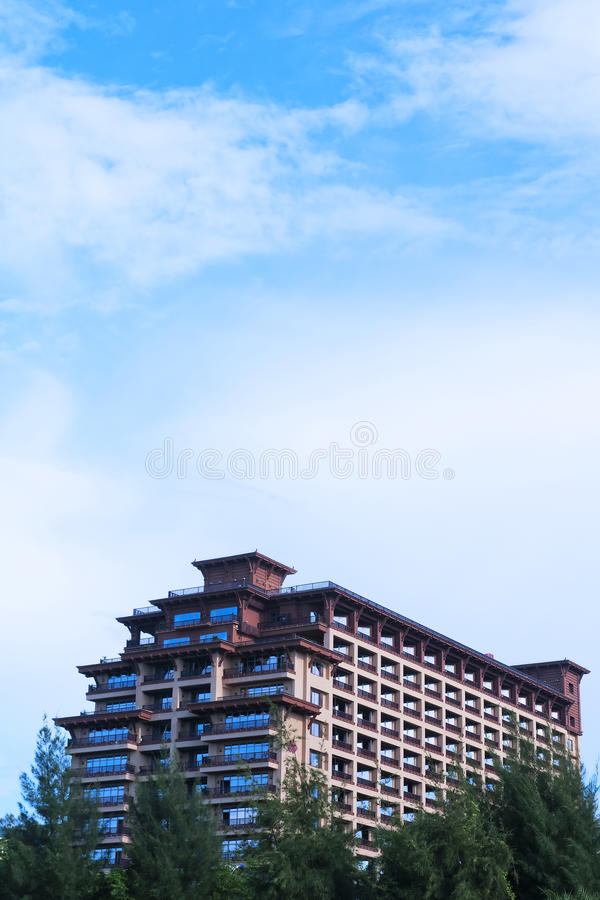 Modern hotel royalty free stock photography