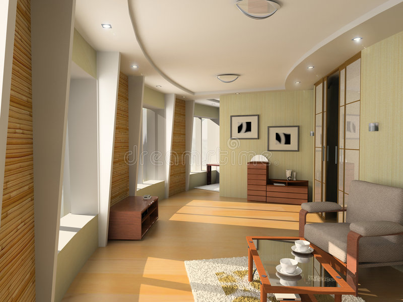 Modern hotel interior stock photo