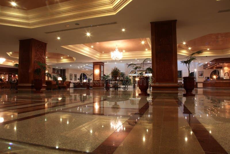 Modern hotel lobby. With marble floor stock photos
