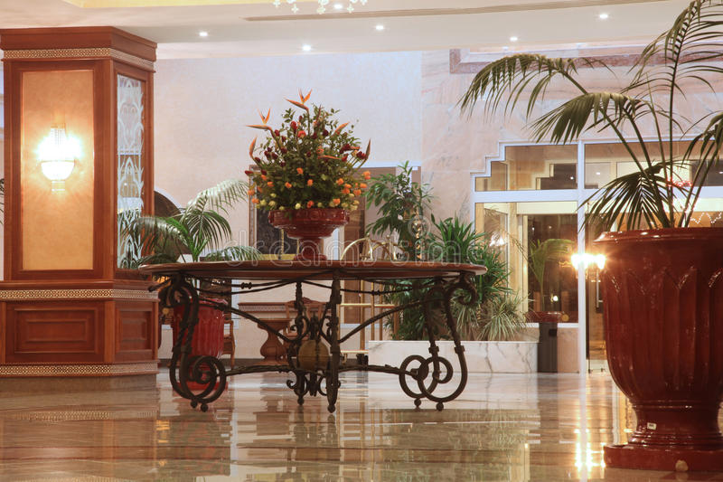Modern hotel lobby. With marble floor royalty free stock images