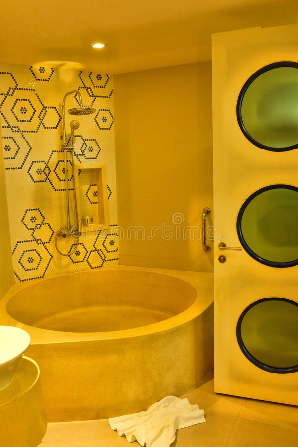 Modern hotel in Thailand on Phuket stock photography