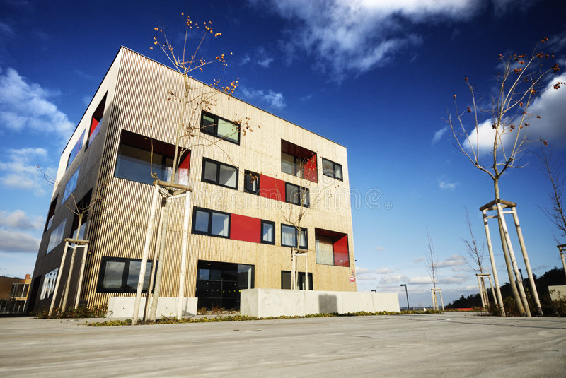 Modern House. New modern building in Prague royalty free stock photo