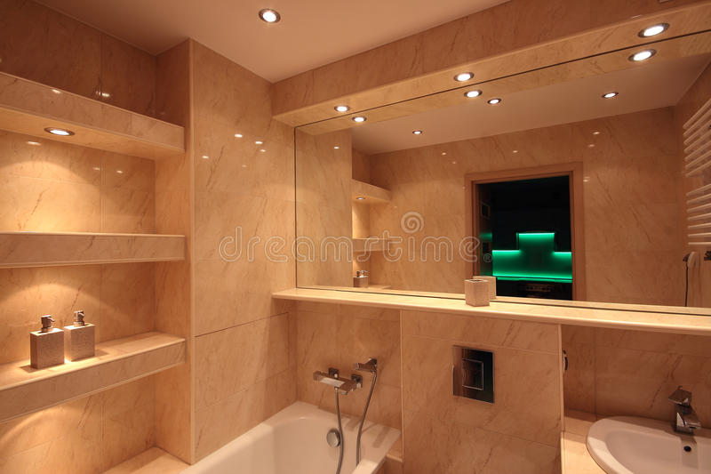 Modern house bathroom interior royalty free stock images