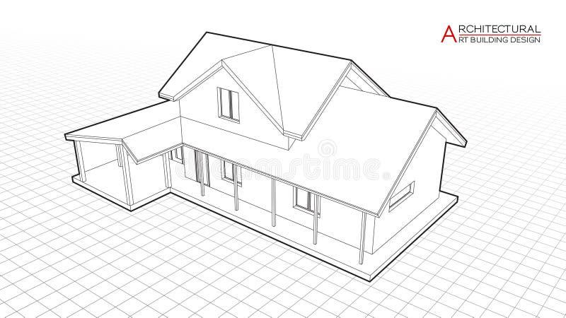 Modern House Drawing Stock Illustrations 29 870 Modern