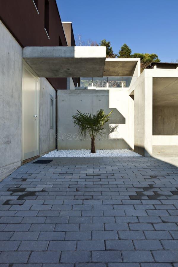 Modern house, entrance royalty free stock image