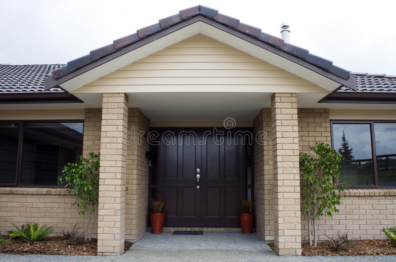 Modern House Front Entrance royalty free stock photo